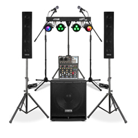 Vonyx VX880 2.1 Active Complete PA System & Stage Lighting