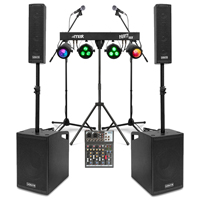 Vonyx VX1050 2.2 Active Complete PA System & Stage Lighting
