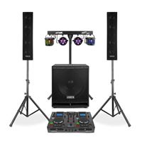 Vonyx VX880 2.1 Active Complete PA System with CD Mixer & Stage Lighting