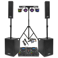 Vonyx VX1050 2.2 Active Complete PA System with CD Mixer & Stage Lighting