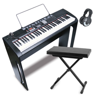 Bontempi Junior Electronic Keyboard Set with Headphones & Stool