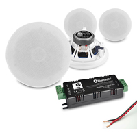 """PD ESCS5 5.25"""" Ceiling Speakers with B427BL Bluetooth Amplifier, Set of 4"""