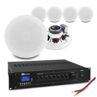 """Commercial Ceiling Speaker System with 6 ESCS5 5.25"""" Speakers & PRM120 Amplifier"""