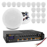 """Commercial Ceiling Speaker System with 20 ESCS5 5.25"""" Speakers & PDV240MP3 Amplifier"""