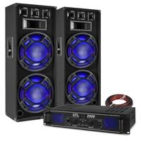 "Fenton BS215 15"" Dual Party Speaker Pair & SPL2000 Amplifier"
