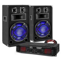 """Fenton BS12 12"""" Passive Party PA Speaker Pair & SPL1000BT Amplifier"""
