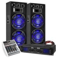 "Fenton BS215 15"" Dual Party Speaker Pair, Mixer & SPL2000 Amplifier"