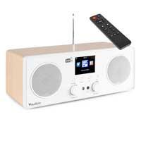 DAB Radio with Bluetooth, WiFi & DAB+ - Audizio Bari White