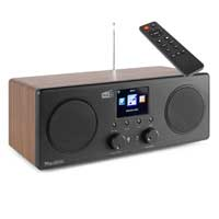 DAB Radio Bluetooth Speaker with WiFi - Audizio Bari Wood Finish