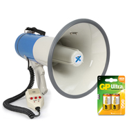 Vonyx MEG055 Battery Powered Megaphone with Built-In 55W Amplifier & Battery