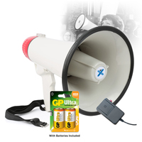 Vonyx MEG040 Battery Powered Megaphone with Built-In 40W Amplifier & Battery