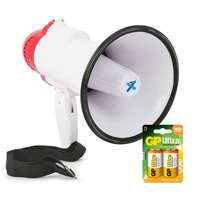 Vonyx MEG020 Battery Powered Megaphone with Built-In 20W Amplifier & Battery