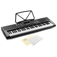 Max KB4 Electronic Keyboard - 61 Keys + Keynote Stickers