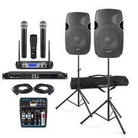 "Complete Professional 10"" Karaoke Speaker Kit - CDG Karaoke Machine"