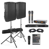 "Professional 12"" VSA12 Karaoke Speaker Kit with Wireless Mics - CDG"