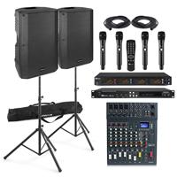 Professional Karaoke System - VSA12 Karaoke Speakers - Wireless Mics