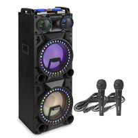 """Fenton VS212 Dual 12"""" Bluetooth Karaoke Speaker & Microphones"""