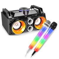 Fenton MDJ100 Bluetooth Karaoke Party Speakers & Karaoke Microphones