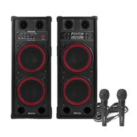 Fenton SPB-210 Bluetooth Karaoke Party Speakers & Karaoke Microphones