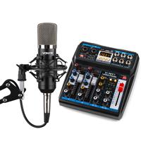 Vonyx Desktop Mixer & CMS400 Microphone Podcasting Streaming Kit