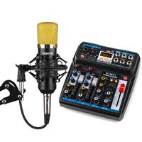 Vonyx Desktop Mixer & CMS400B Microphone Podcasting Streaming Kit