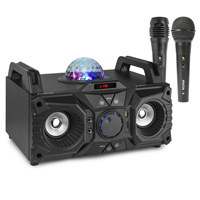 Fenton KAR100 Karaoke Bluetooth Party Speaker & Two Microphones