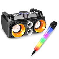 Fenton MDJ100 Bluetooth Karaoke Party Speakers & Karaoke Microphone