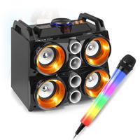 Fenton MDJ200 Bluetooth Karaoke Party Speakers & Karaoke Microphone