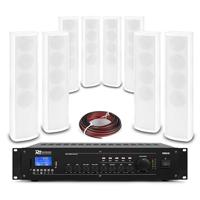 PD ICS4 Column Wall Speaker White & PRM240 Amplifier, Set of 8