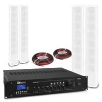 PD ICS8 Column Wall Speaker White & PRM240 Amplifier, Set of 4