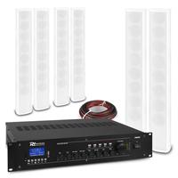 PD ICS8 Column Wall Speaker White & PRM360 Amplifier, Set of 6