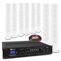 PD ICS8 Column Wall Speaker White & PRM360 Amplifier, Set of 8
