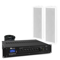 PD OCS3 Outdoor Column Wall Speaker & PRM120 Amplifier, Pair