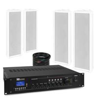 PD OCS3 Outdoor Column Wall Speaker & PRM240 Amplifier, Set of 4