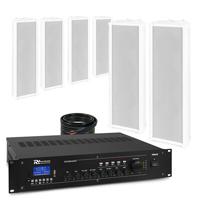 PD OCS3 Outdoor Column Wall Speaker & PRM240 Amplifier, Set of 6