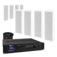 PD OCS3 Outdoor Column Wall Speaker & PRM360 Amplifier, Set of 8