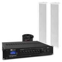 PD OCS5 Outdoor Column Wall Speaker & PRM120 Amplifier, Pair
