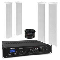 PD OCS5 Outdoor Column Wall Speaker & PRM240 Amplifier, Set of 4