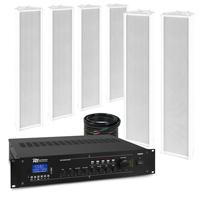 PD OCS5 Outdoor Column Wall Speaker & PRM360 Amplifier, Set of 6