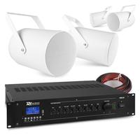 PD PSP6 Outdoor Projector Speaker & PRM120 Amplifier, Set of 4