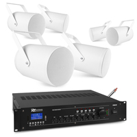 PD PSP6 Outdoor Projector Speaker & PRM240 Amplifier, Set of 6