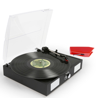 Fenton RP108B Black Record Player & Spare Stylus