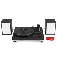 Fenton RP155B Black Record Player & Spare Stylus