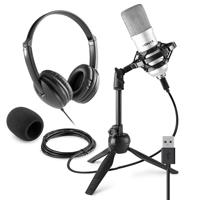 Vonyx CM300S Home Studio Recording Microphone & VH100 Headphone Set