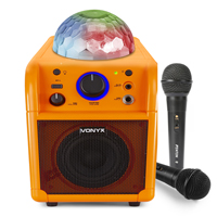 Vonyx SBS50-L Karaoke Machine Orange Bluetooth Party Speaker Set with Microphones