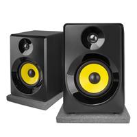 "Vonyx SMN40B Active Studio Monitors 4"" Black with Pads"
