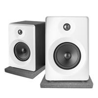 "Vonyx SMN40W Active Studio Monitors 4"" White with Pads"