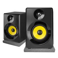 "Vonyx SMN50B Active Studio Monitors 5"", Black with Pads"