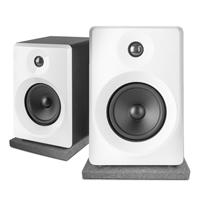 "Vonyx SMN50W Active Studio Monitors 5"", White with Pads"