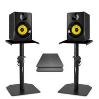 Vonyx SMN30B Active Studio Monitors Pair with Desktop Stands